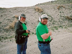 David and Dennis Gentry at the Shooting Range
